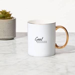 Goal Digger Bone China Gold Handle Mug