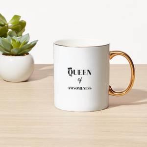 Queen Of Awesomeness Bone China Gold Handle Mug