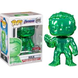 Marvel Avengers 4 Green Chrome Hulk EXC Funko Pop! Vinyl