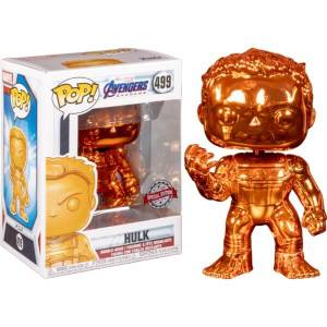 Marvel Avengers 4 Orange Chrome Hulk EXC Funko Pop! Vinyl