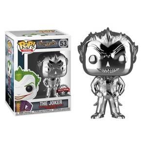 DC Comics Batman Arkham Asylum The Joker Silver Chrome EXC Pop! Vinyl Figure