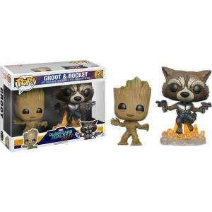 Marvel Guardians of the Galaxy 2 Groot e Rocket 2-Pack EXC Figura Pop! Vinyls