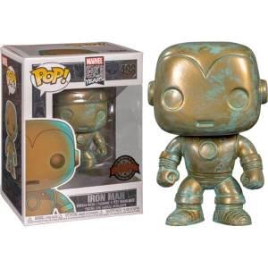 Marvel 80th Iron Man Patina EXC Figura Pop! Vinyl