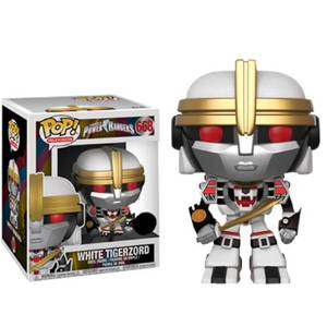 Power Rangers White Tigerzord 6-Inch (15 cm) EXC Figura Pop! Vinyl