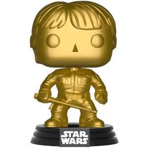 Star Wars Luke Skywalker Gold Metallic EXC Pop! Vinyl Figure