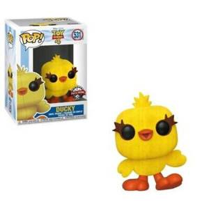 Toy Story 4 Ducky Flocked EXC Figura Pop! Vinyl