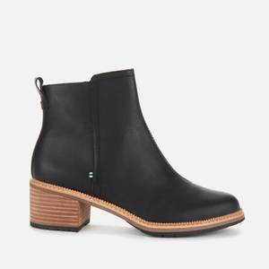 TOMS Women's Marina Leather Heeled Ankle Boots - Black