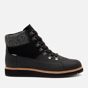 TOMS Women's Mesa Waterproof Nubuck Leather Hiking Style Boots - Black