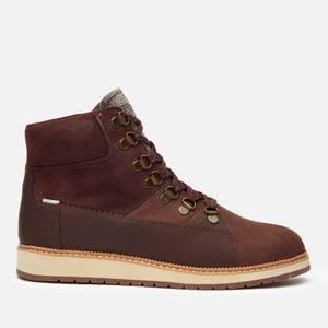 TOMS Women's Mesa Waterproof Nubuck Leather Hiking Style Boots - Dark Red