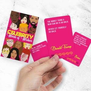 Celebrity Words Of Wisdom Cards