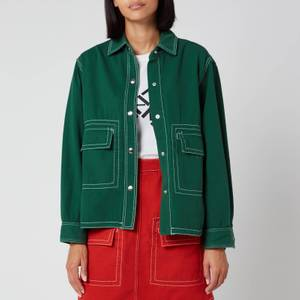 KENZO Women's Military Shirt - Bottle Green