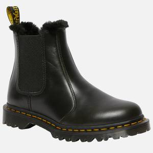 Dr. Martens Women's 2976 Leonore Fur Lined Leather Chelsea Boots - Dark Grey