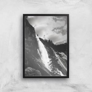 Yosemite Crashing Waterfall Giclee Art Print