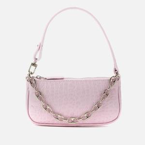 BY FAR Women's Mini Rachel Croco Shoulder Bag - Pink