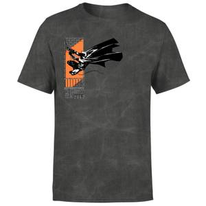Batman Begins Hero Of The Shadows Men's T-Shirt - Black Acid Wash