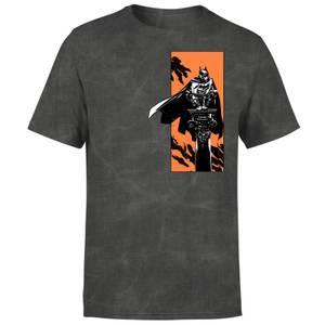 Batman Begins My Actions Define Me Men's T-Shirt - Black Acid Wash