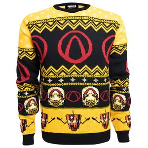Borderlands Lock Load Loot Christmas Knitted Sweater- Black