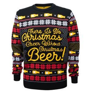 Novelty Christmas Beer Jumper - Black