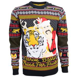That B*tch Carole Baskin Christmas Jumper - Navy