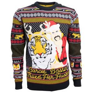 That B*tch Carol Baskin Christmas Sweater - Navy