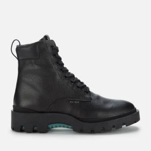 Coach Men's Citysole Pebbled Leather Lace Up Boots - Black