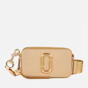 Marc Jacobs Women's Snapshot DTM Metallic Cross Body Bag - Yellow Gold