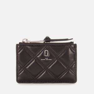 Marc Jacobs Women's Quilted Softshot Wallet - Black