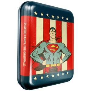 DC Superman Sammler-Spielkarten & Dose