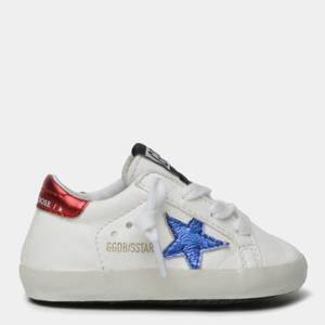 Golden Goose Deluxe Brand Babies' Star Nappa Trainers - White/Blue/Red