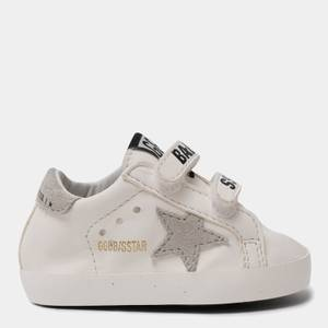 Golden Goose Deluxe Brand Babies' School Nappa Trainers - White/Ice