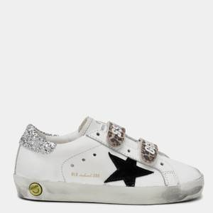Golden Goose Deluxe Brand Toddlers' Old School Trainers - White/Black/Leopard