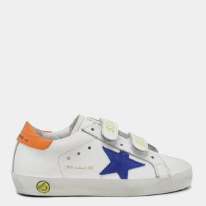 Golden Goose Deluxe Brand Toddlers' Old School Trainers - White/Bluette/Orange