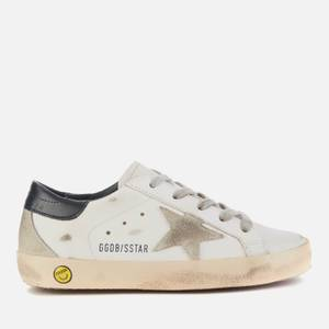 Golden Goose Deluxe Brand Kids' Superstar Trainers - White/Ice/Navy Blue