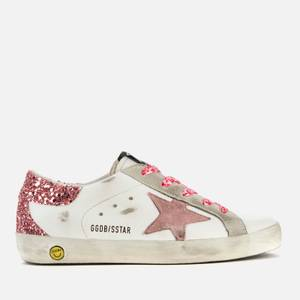 Golden Goose Deluxe Brand Kids' Superstar Trainers - White/Pink
