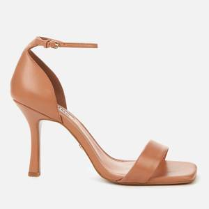 Dune Women's Meri T Leather Heeled Sandals - Camel