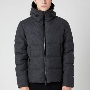 Herno Men's Hooded Down Bomber Jacket - Dark Grey
