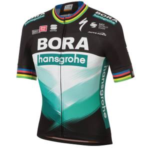Sportful Bora Hansgrohe Ex World Champion BodyFit Team Jersey - Black/Green