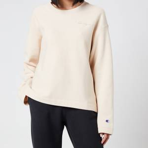 Champion Women's Crewneck Sweatshirt - Sand