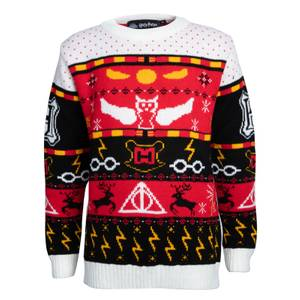 Harry Potter Kids Christmas Knitted Jumper - Red