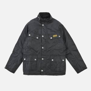 Barbour International Boys' Duke Wax Jacket - Black