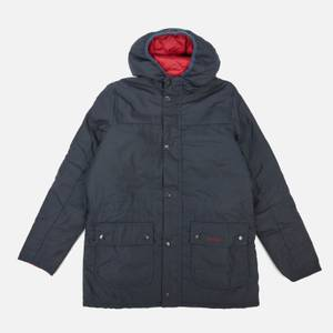 Barbour Heritage Boys' Durham Wax Jacket - Navy/Red