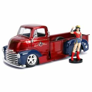 Jada Diecast 1:24 1952 Chevy COE Pickup with Wonder Woman Figure