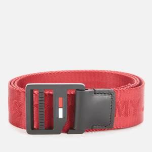Tommy Jeans Men's TJM Webbing Belt 3.5 - Wine Red