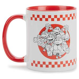 Teenage Mutant Ninja Turtles By The Slice Mug - White/Red