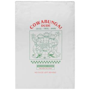Teenage Mutant Ninja Turtles Cowabunga Cotton Tea Towel - White