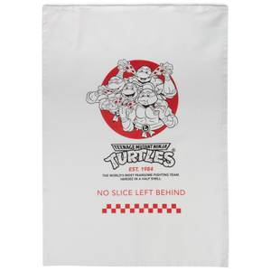 Teenage Mutant Ninja Turtles By The Slice Cotton Tea Towel - Wit