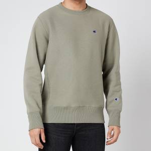 Champion Men's Reverse Weave Crewneck Sweatshirt - Green