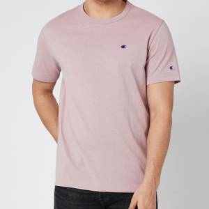 Champion Men's Small Logo Crewneck T-Shirt - Pink