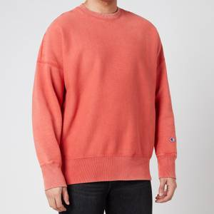 Champion Men's Garment Dye Crewneck Sweatshirt - Orange