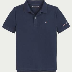 Tommy Hilfiger Boys' Global Stripe Tipping Polo Shirt - Twilight Navy